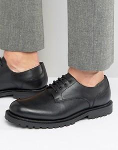 Кожаные туфли дерби Hudson London эксклюзивно для ASOS - Черный