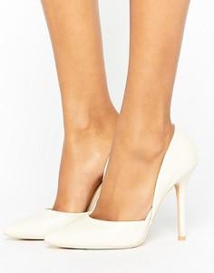 Белые туфли-лодочки с эффектом змеиной кожи Glamorous DOrsay - Белый
