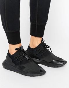 Черные кроссовки adidas Originals Black Tubular Entrap - Черный