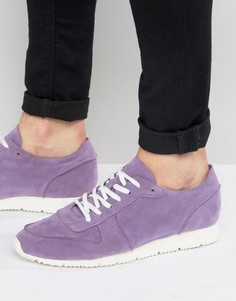 ASOS Retro Trainers In Relaxed Purple Faux Suede - Фиолетовый