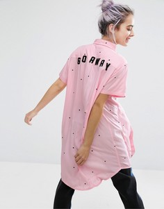 Длинная рубашка Go Away Lazy Oaf - Розовый