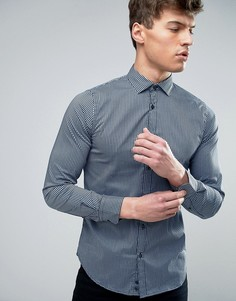 Узкая рубашка в клетку Sisley - Синий