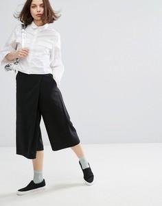 Юбка-брюки с запахом Monki - Черный