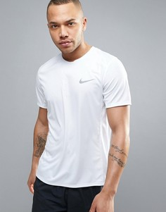 Белая футболка для бега Nike Miler Dri-Fit 833591-100 - Белый