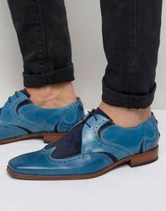 Кожаные туфли дерби с замшевой отделкой Jeffery West Scarface - Синий