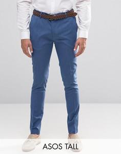 Супероблегающие брюки ASOS TALL - Синий