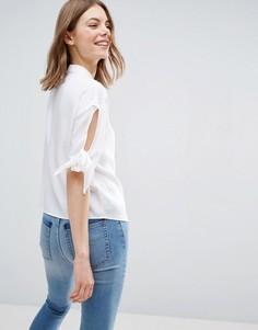Свободная рубашка с завязками на рукавах ASOS - Белый