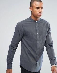 Узкая рубашка с воротом на пуговице Only & Sons - Белый