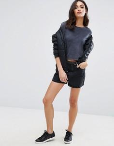 Джинсовые шорты с завышенной талией Vero Moda - Черный