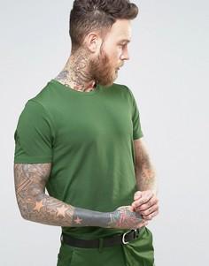 Хлопковая узкая премиум-футболка Devils Advocate - Зеленый