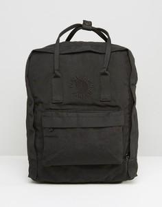 Черный рюкзак объемом 16 л Fjallraven Re-Kanken - Черный