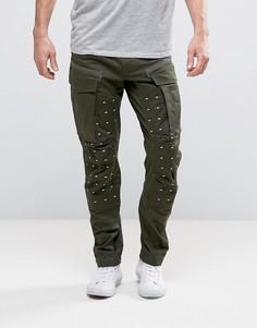 Суженные книзу брюки G-Star MS Rovic 3D - Зеленый