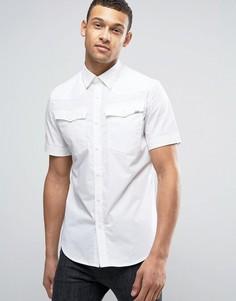 Рубашка узкого кроя с короткими рукавами G-Star 3301 - Белый