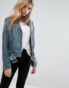 Байкерская куртка с ремнем Goosecraft - Черный