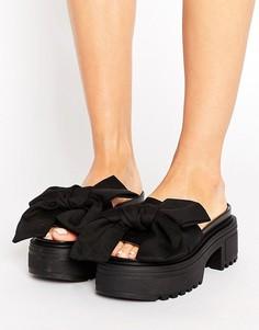 Массивные сандалии с бантом ASOS THRILL SEEKER - Черный