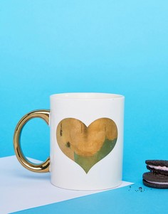 Sass & Belle Gold Heart Mug - Мульти