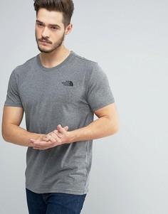 Серая меланжевая футболка The North Face Simple Dome - Серый