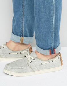 TOMS Culver Linen Boat Shoes - Серый