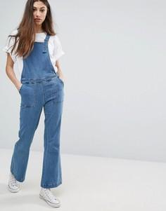 Расклешенный джинсовый комбинезон Noisy May - Синий