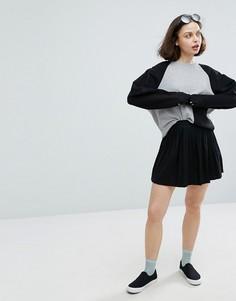 Monki Mini Skater Skirt - Черный