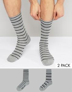 2 пары серых носков в полоску Levis - Серый Levis®