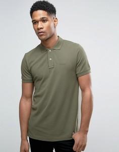 Приталенная футболка-поло из пике Esprit - Зеленый