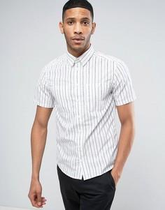 Рубашка с короткими рукавами в полоску Casual Friday - Белый