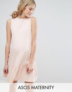 Свободное платье ASOS Maternity - Розовый