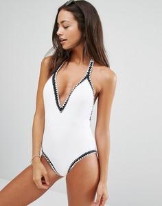 Белый слитный купальник Seafolly Summer Vibe - Белый
