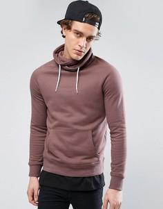 Фиолетовый свитшот с воротником-стойкой New Look - Фиолетовый