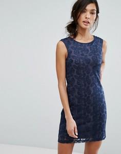 Платье-футляр без рукавов Lavand - Темно-синий