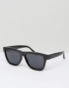 Солнцезащитные очки в квадратной оправе Le Specs - Черный