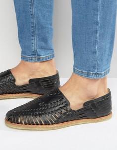 Кожаные сандалии Toms Huaraches - Черный
