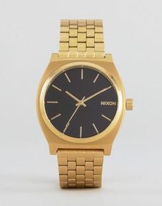 Золотистые часы-браслет Nixon Time Teller - Золотой