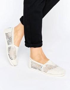 Туфли с отделкой кроше TOMS Natural Moroccan - Бежевый