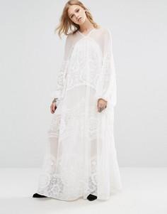 Платье макси Free People Bohemian - Кремовый