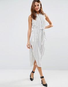 Платье-рубашка в полоску Pixie & Diamond - Белый