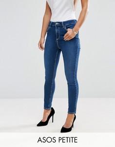 Выбеленные укороченные джинсы ASOS PETITE Ridley - Синий