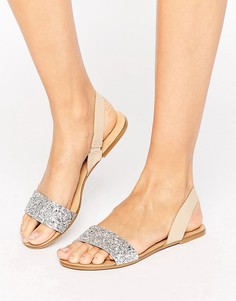 Кожаные сандалии с ремешком через пятку ASOS FARO - Мульти