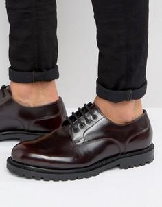 Кожаные туфли дерби Hudson London - Красный