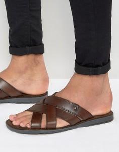 Кожаные сандалии Base London - Коричневый