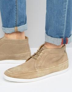 Замшевые ботинки чукка Base London Venue - Бежевый