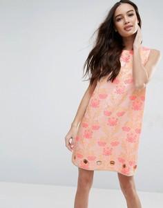 Жаккардовое платье с цветочным узором Clover Canyon - Розовый