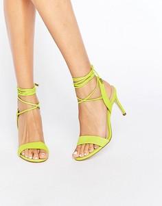 Туфли на каблуке с завязками ALDO Marilyn - Желтый