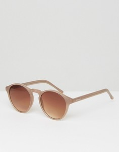 Круглые солнцезащитные очки Komono Devon - Коричневый