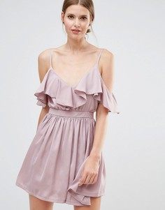 Платье мини на тонких бретельках Oh My Love - Розовый