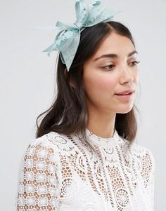Обруч для волос с бантиком и вуалеткой Boardmans - Зеленый Elegance