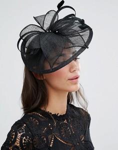 Вуалетка с перьевой отделкой Boardmans - Черный Elegance