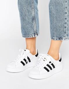 Черно-белые кроссовки на двойной подошве adidas Originals - Белый