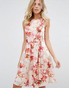 Цельнокройное платье без рукавов с цветочным принтом Boss Orange - Мульти